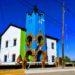 Valcheta: Una comisaría bien rionegrina, con los colores de la bandera de la provincia